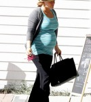 Pregnant Hilary Duff leaves a nail salon in Los Angeles