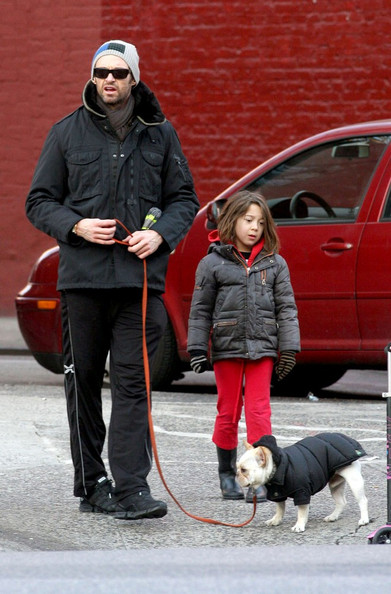 Hugh Jackman & Ava's Cold Weather Stroll