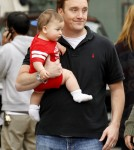"Jay Mohr gets a visit from his family on the set of his upcoming film ""The Incredible Burt Wonderstone"""
