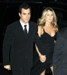 Jennifer Aniston and her beau Justin Theroux head to the Museum of Modern Art in New York for an after party.