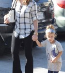 Jessica Alba and Honor in Brentwood, Ca (January 6)
