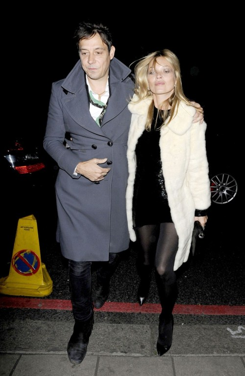 Birthday girl Kate Moss and husband Jamie Hince enjoy a night out at China Tang restaurant to celebrate the supermodel's 38th birthday in London