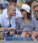 Saturday September 10 2011. A pregnant Keri Russell and husband Shane Deary attend the US Open at the Billie Jean King Tennis Center in New York.