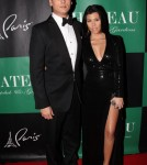 kourtney kardashian and Scott Disick at Chateau Nightclub and Gardens on New Year's Eve in Las Vegas