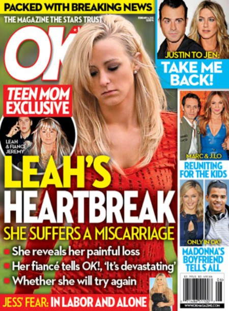 Leah Messer Devastated As She Suffers A Miscarriage (Photo)