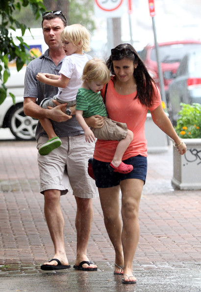Liev Schreiber and his sons Alexander and Samuel In Sydney