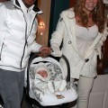 Mariah Carey and husband Nick Cannon with their twins Moroccan and Monroe in Aspen, CO (December 31)