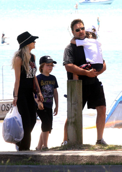 Russell Crowe and Family Out and About
