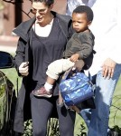 Sandra Bullock Picks Up Louis At School in Studio City