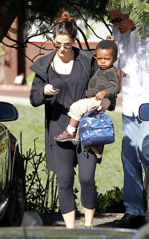 Sandra Bullock & H... Sandra Bullock S Son