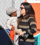 Sandra Bullock Sandra Bullock picks up her son Louis from pre-school.