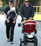 Selma Blair and boyfriend Jason Bleick out for a walk with their son Arthur on New Year's Eve in West Hollywood, CA.