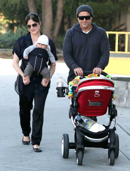 Selma Blair's New Years Eve Family Stroll