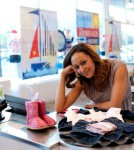 Tia Mowry shops for cute outfits for her son Cree Taylor Hardrict at The Children's Place store.