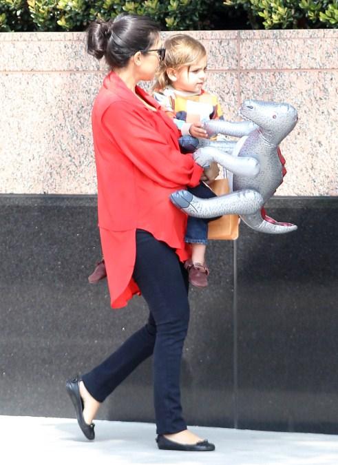 Expecting mom Kourtney Kardashian and her son Mason Disick made their way to the Kidnasium in Santa Monica, California on February 28, 2012.
