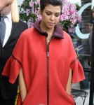 . Reality star Kourtney Kardashian spotted looking at some retail locations for lease in Beverly Hills, CA.