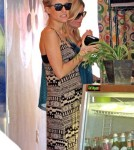 Pregnant reality star Kristin Cavallari seen leaving a friends house and then grabbing some food at Bloom Cafe in West Hollywood, CA on February 10, 2012.