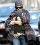 Sarah Jessica Parker picking up her twin Marion and Tabitha from school in New York City, NY on February 10, 2012.