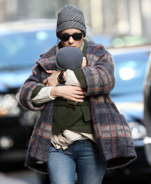 Marion Cotillard & Son Marcel Bundle Up
