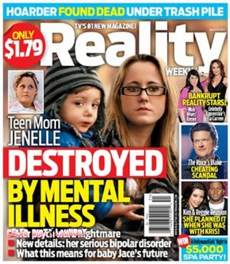 Teen Mom's Jenelle Evans Destroyed by Mental Illness? (Photo)
