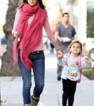Alessandra Ambrosio picking up Anja from school in Santa Monica (February 14).