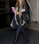 Pregnant model Alessandra Ambrosio arrives at LAX airport to catch a flight to New York City on February 7, 2012 in Los Angeles, CA. The Victoria's Secret model is heading to New York ahead of the upcoming Fashion Week.