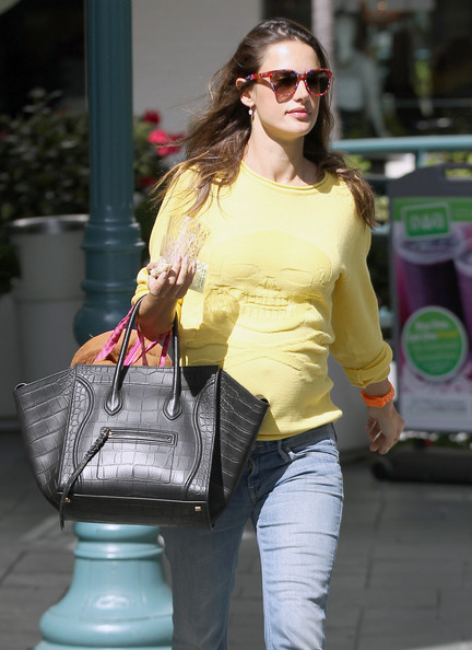 Pregnant Alessandra Ambrosio was out and about in Brentwood, California on February 29, 2012 running errands.