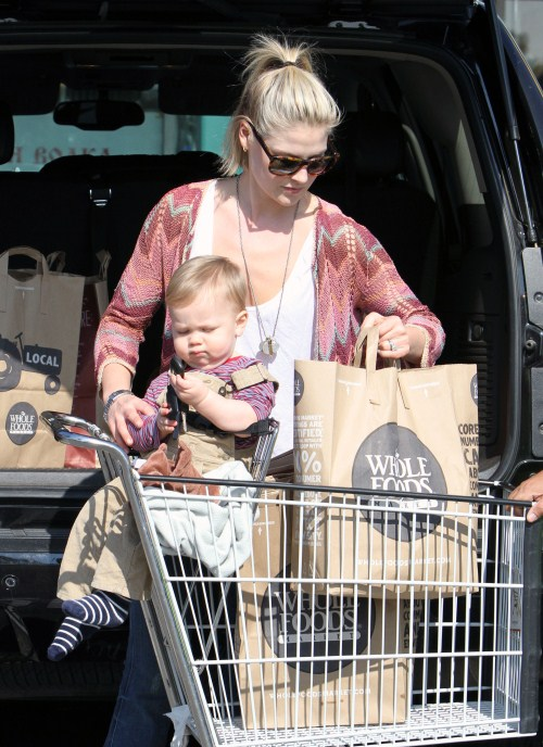Ali Larter & Son Theodore's Grocery Shopping Day