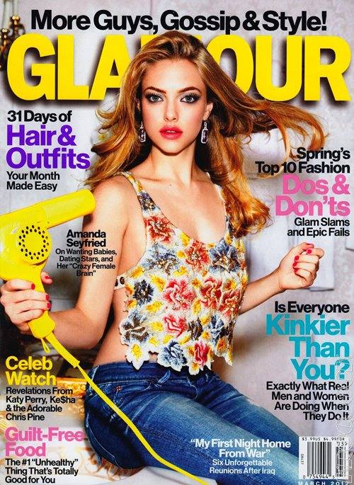 Amanda Seyfried Glamour Magazine March 2012