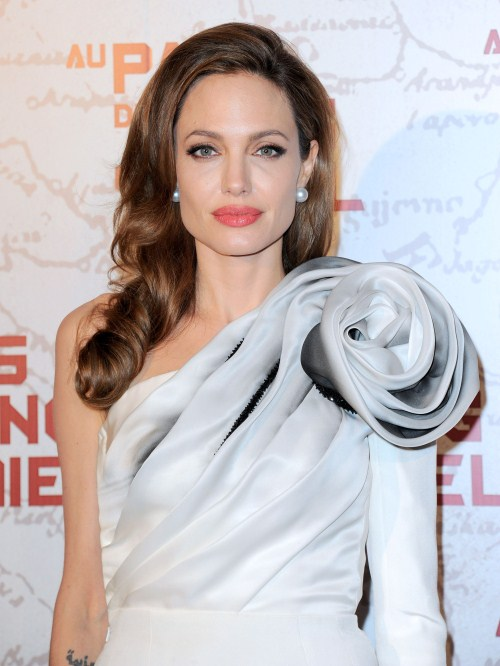 "Angelina Jolie at the Paris premiere of ""In The Land Of Blood And Honey"" in Paris, France on February 16, 2012"