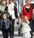 Angelina Jolie out shopping with the twins (February 27)