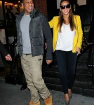 Jay-Z and Beyonce Knowles at the Knicks Game in New York City, NY on February 20, 2012