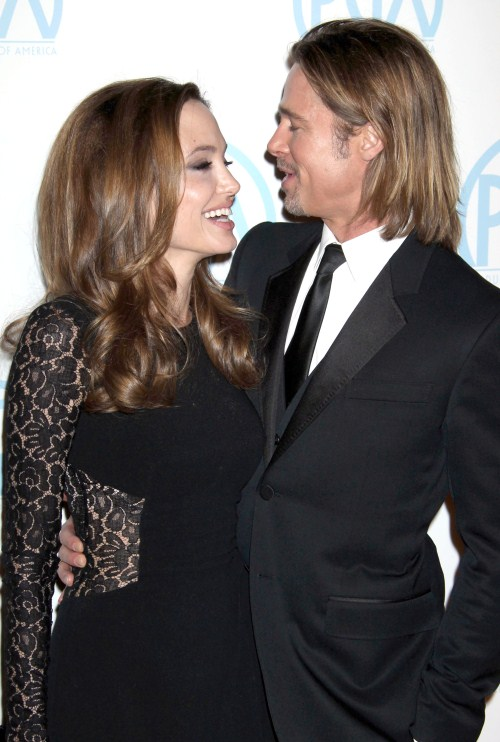 Brad Pitt & Angelina Jolie attending The 23rd Annual Producers Guild Awards at The Beverly Hilton Hotel in Beverly Hills, CA on January 21, 2012