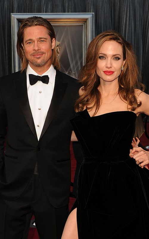 Brad Pitt and Angelina Jolie at the 84th Annual Academy Awards (February 26)