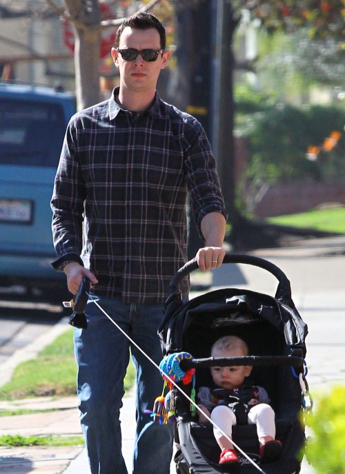 Colin Hanks Takes His Daughter For A Birthday Stroll