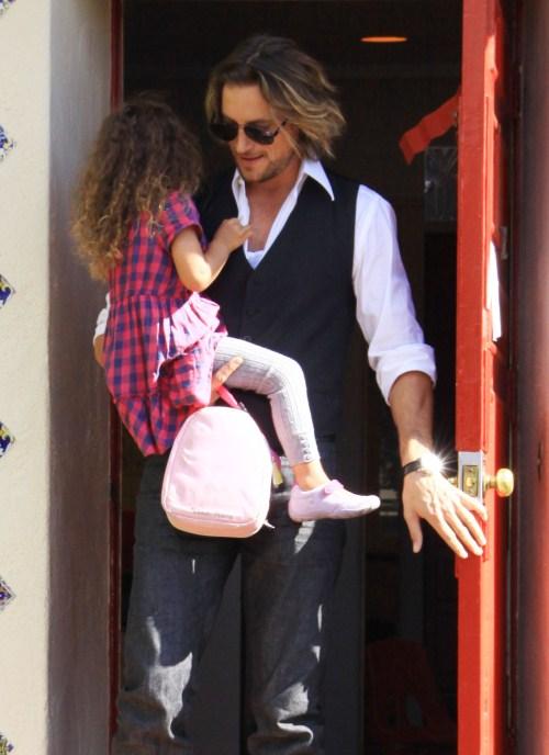 Gabriel Aubry Visits Daughter Nahla After Court Decision