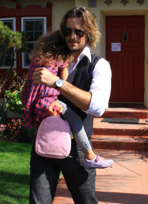 Gabriel Aubry Visits Daughter Nahla After Court Decision