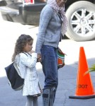 Halle Berry dropping Nahla off at school in LA (February 21)