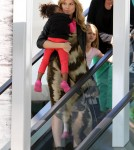 After leaving karate and ballet class Heidi Klum takes her kids Leni, Henry, Johan and Lou to a birthday party in Santa Monica, California on February 25, 2012.
