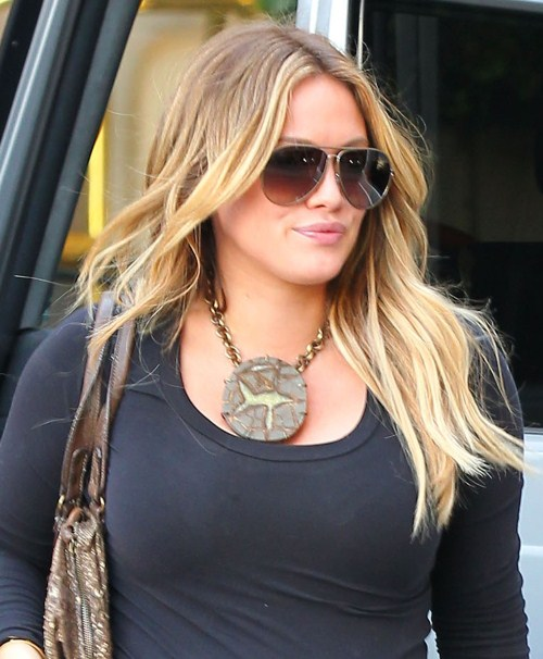 Hilary Duff seen arriving at the Montage Beverly Hills Hotel in Beverly Hills, CA on February 4, 2012
