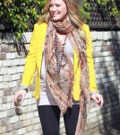 Hilary Duff glowing as she headed out in Los Angeles, California on February 9, 2012