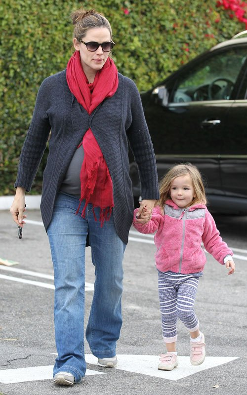 Jennifer Garner & Seraphina: Breakfast Buddies