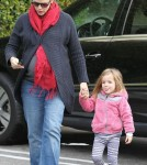 Jennifer Garner and Seraphina grabbing breakfast in Brentwood (February 6)