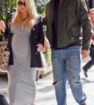 Jessica Simpson and fiance Eric Jonhson leaving the Four Season hotel in Beverly Hills CA (February 11)