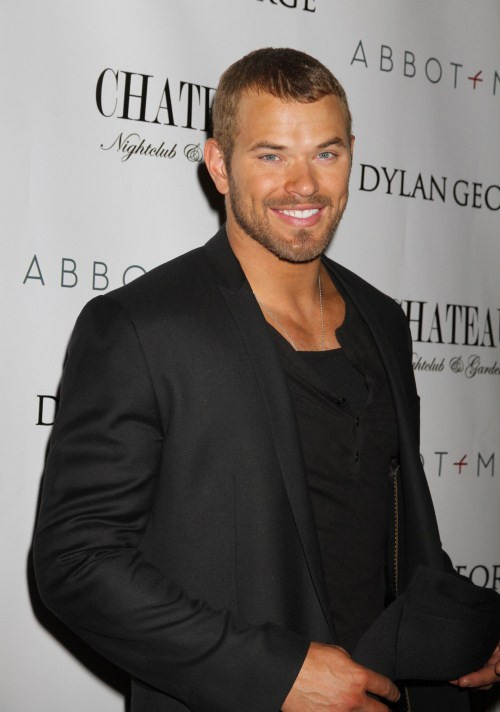 """Twilight"" star Kellan Lutz attends the Dylan George & Abbot Main Fall 2012 Collection at Project Afterparty at Chateau Nightclub, Paris Hotel and Casino on February 14, 2012 in Las Vegas, NV."