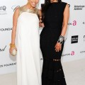 Kim and Kourtney Kardashian at the 20th Annual Elton John AIDS Foundation's Oscar Viewing Party (February 26)