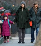 Maggie Gyllenhaal And Family Walk To Schoo