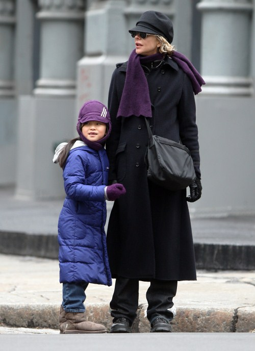 Meg Ryan's Cold Winter Day With Daisy