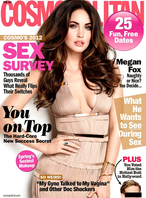 Megan Fox Cosmopolitan April issue 2012