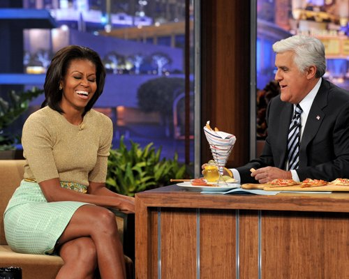 Michelle Obama & Jay Leno